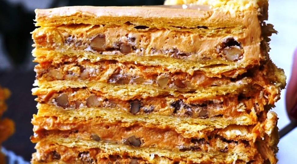 Пирог с вареной сгущенкой и арахисом » Рецепты приготовления блюд ... | 537x973